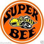NOSTALGIC DODGE SUPER BEE HARD HAT STICKER HELMET STICKER ROUND LAPTOP STICKER  for sale