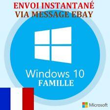 Microsoft Windows 10 Famille Home Licence Clé D'Activation + Envoi INSTANTANÉ