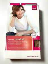 Mediven Comfort Open Toe Knee High Compression Stockings Natural 20-30