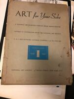 Vintage American Art Incomplete Lithographs Portfolio 1939, National Art Society
