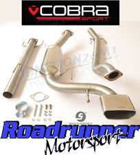 "Cobra Astra VXR H MK5 Cat Back Exhaust System 2.5"" Stainless Non Resonated VX71"