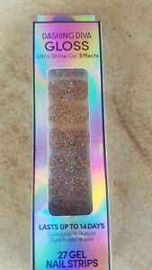 Dashing Diva Gloss Ultra Shine Gel Effects Nail Strips Celebration Shimmer NIB