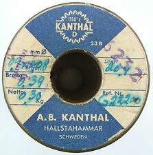 0,9x0,08mm 20,4Ω/m, Kanthal D Flach Flachdraht Widerstandsdraht Heizdraht, 7 m