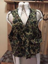 BLACK SHEEP Camo Shotgun Hunting Vest w/ Game Pouch Bird Pheasant Mens Large