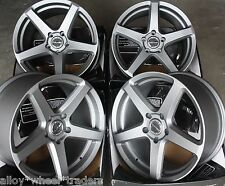 "18"" GM 5 SPOKE ALLOY WHEELS FITS RENAULT VOLVO PEUGEOT MERCEDES BENZ 5X108 ONLY"
