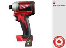 "Milwaukee 2850-20 M18 Compact GEN II Brushless 1/4"" Hex Impact Driver Bare Tool"