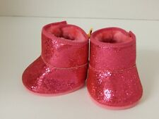 Build A Bear ~ Dark Pink / Fushia Glitter Sparkle Boots