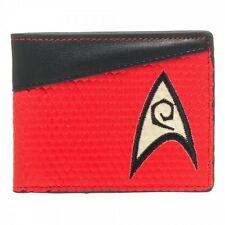 Star Trek Wallet Engineering Red Bifold Vinyl Logo Officially Licensed - NEW