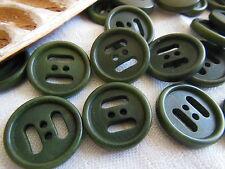 lot 10 boutons en corozo vert veiné originaux 4 trous diamètre 1,7 cm ref 2122