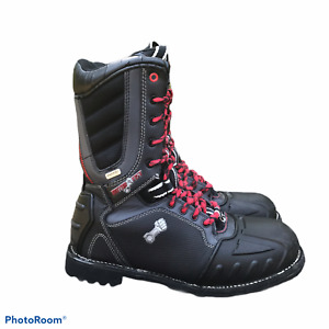 MOTORFIST EVENT Waterproof Snowmobile Leather Boots Size 9 Men