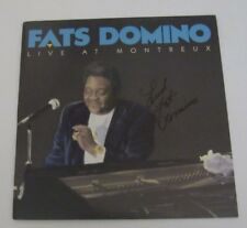 Fats Domino Signed Lp Album Live At Montreux LOOK