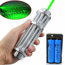 1 W Military Green Laser Pointer Pen 532nm Visible Beam Light&18650&Dual Charger