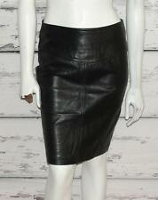 THE LIMITED~BLACK~GENUINE SOFT LEATHER *HIGH-WAIST* VINTAGE PENCIL SKIRT~8