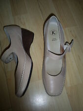 Clarks Wedge 100% Leather Mary Janes Shoes for Women