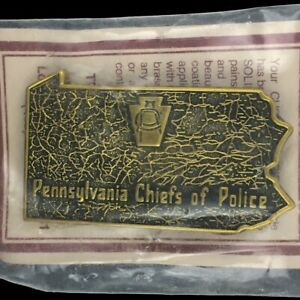 Vtg Pennsylvania Chief Of Police Cpa Law Officer Tbw Nos 1980s Belt Buckle
