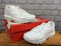 NIKE MENS UK 6 EU 40 AIR MAX 98 WHITE PATENT LEATHER MESH TRAINERS RRP £145 T