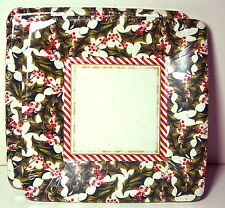 NWT Old Fashioned Holly Square dessert Paper plates pkg of 8