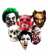 Halloween 2D Carte Visage Fête Masques Variété Set 6 Avec Scary Vampire & Zombie