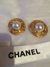 Chanel Earrings, pearl, 100% Authentic