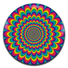 Psychedelic Hippie Trippy Retro 25mm / 1 Inch D Pin Button Badge