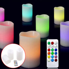 3pcs LED Remote Control Flameless Wax Flickering Vanilla Scented Mood Candles AU