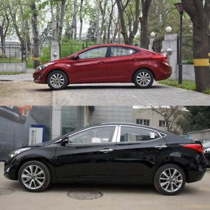 Stainless Steel Chrome Window Sills+Pillar Posts Trims Cover For Hyundai Elantra