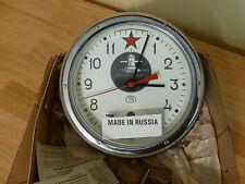 Russian Submarine 5-24M Vostok 12-jewel Mechanical Marine Clock. NOS - Tested.