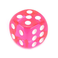 10pcs Square Transparent Dice Acrylic Craps Casino Bar Toy Game 14mm a Pink