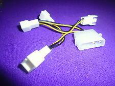 D Type 4 pin IDE Molex A 4 x 3 PIN MASCHIO 12V PC Ventola della CPU cavo adattatore di alimentazione 10cm