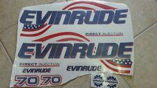 Adesivi motore marino fuoribordo Evinrude 70 hp americana bandiera usa nautica