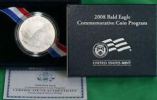 2008 Bald Eagle BU 90% Silver Dollar Commemorative US Mint $1 Coin Box and COA