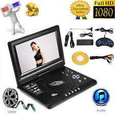"7.8-13.9"" Portable DVD Player USB FM Radio LCD Swivel Screen HD CD TV Player Car"