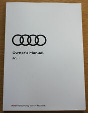 Audi A5 S5 RS5 Coupe Sportback Cabriolet Handbook Manual 2016-2017 Pack 16286