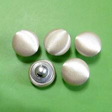 20 Satin Fabric Cover Wedding Dress Bride Buttons Shiny Dark Ivory 12.5mm G234S