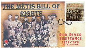 CA19-022, 2019, Red River Resistance, Pictorial Postmark, First Day Cover, Metis
