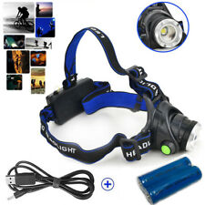 Headlight LED CREE XM-L T6 Headlamp Rechargeable Head Light Torch Flashlight