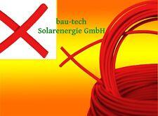 Solarkabel rot 6mm2 Meterware für PV Photovoltaik Montage Solar Kabel