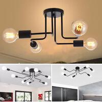 Plafonnier Lampe luminaires Vintage 4-8 Ways rétro montage Lustre Suspension