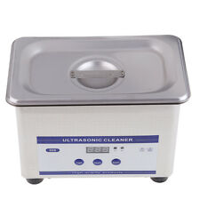 Stainless Steel Digital Dental Ultrasonic Parts Cleaner Cleaning Equipment NEW