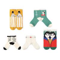 Fashion Women Cartoon Painting Ankle Socks Funny Art Cotton Socks Hosiery