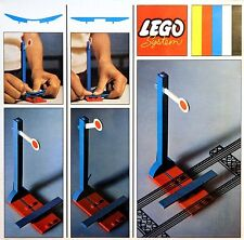 NEW Lego 4.5V TRAINS 2 Signals with Automatic STOP/ GO Attachment SEALED