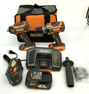RIDGID R9205 BRUSHLESS 18V CMPCT HAMMER DRILL/DRIVER KIT, GR #2