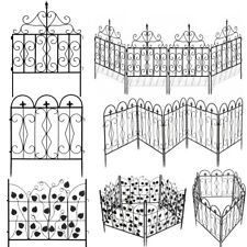 5X Decorative Garden Fence Connectable Flower Bed Edge Gate Fencing No Assemble