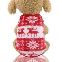 Pet Dog Clothes Winter Dogs Jumpsuit Soft Clothing Warm Cat Coat Pajamas AU