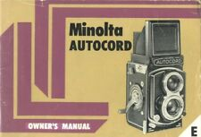 Minolta Autocord Late Model Instruction Manual with 120/220 Addendum Card