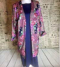 WOMENS PLUS SZ 1X 22 24 ROAMAN'S 2 PCE DRESS OUTFIT W/ Slinky JACKET OVERSHIRT
