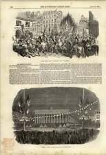 1848 REPUBBLICA FRANCESE Pageant a Versailles gli alberi della libertà