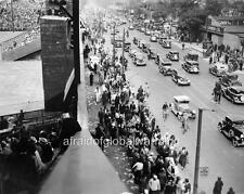 Photo. 1935. Detroit, MI. Tiger Stadium.  World Series - Crowds, Auto Traffic