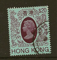 HONG KONG : 1982 $20 definitive   SG 429 fine used