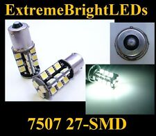 WHITE 7507 27-SMD LED Turn Signal Backup Reverse Lights